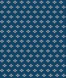 Eenvoudig naadloos breiend blauw bloempatroon Stock Foto's