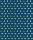 Eenvoudig naadloos breiend blauw bloempatroon Royalty-vrije Stock Afbeelding