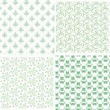 Eenvoudig naadloos groen patroon vier Stock Fotografie