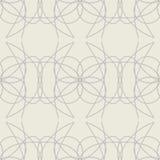 Eenvoudig naadloos patroon met decoratieve bloemenelementen Stock Afbeelding