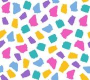 Eenvoudig naadloos patroon met kleurrijke gescheurde document stukken vector illustratie