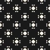 Eenvoudig naadloos patroon met rond gemaakte cijfers, bloemenvormen Stock Foto's