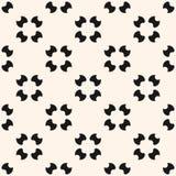 Eenvoudig naadloos patroon met rond gemaakte cijfers, bloemenvormen, gesneden cirkels Royalty-vrije Stock Afbeeldingen