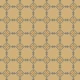 Eenvoudig naadloos stikkend patroon op een beige achtergrond Stock Afbeeldingen