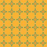 Eenvoudig naadloos stikkend patroon op een oranje achtergrond Royalty-vrije Stock Foto