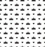 Eenvoudig naadloos vectorpatroon met kroon Royalty-vrije Stock Foto's
