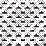 Eenvoudig naadloos vectorpatroon met kroon Royalty-vrije Stock Afbeeldingen