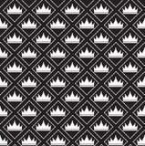 Eenvoudig naadloos vectorpatroon met kroon Stock Foto