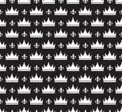 Eenvoudig naadloos vectorpatroon met kroon Royalty-vrije Stock Fotografie