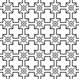 Eenvoudig naadloos zwart stikkend patroon op een witte achtergrond Stock Foto's