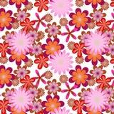 Eenvoudig naadloze roze bloemachtergrond Royalty-vrije Stock Afbeelding