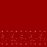 Eenvoudig patroon met herten en sneeuwvlokken vector illustratie