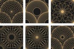 Eenvoudig patroon van fijne lijnen Naadloze het herhalen achtergrond Zwarte draad op wit Royalty-vrije Stock Afbeelding