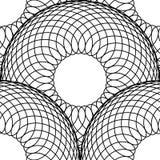 Eenvoudig patroon van fijne lijnen Naadloze het herhalen achtergrond Zwarte draad op wit Stock Fotografie
