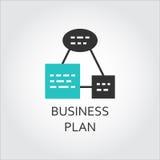 Eenvoudig pictogram van de regeling van het businessplan, vectoretiket royalty-vrije illustratie