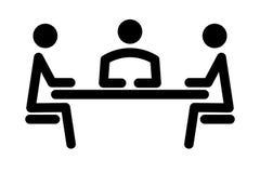 Eenvoudig pictogram van meetingn Stock Fotografie