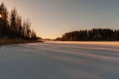 eenvoudig plattelandslandschap in Letland met gebieden en bomen und stock fotografie