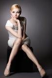 Eenvoudig portret van een meisje Stock Foto's