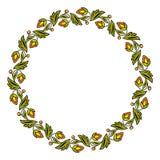 Eenvoudig rond kleurrijk bloemenkader, kroon Vector illustratie stock illustratie