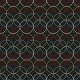 Eenvoudig rond patroon Gebaseerd op Traditioneel Japans Borduurwerk stock illustratie