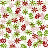 Eenvoudig rood groen natuurlijk naadloos patroon royalty-vrije stock fotografie
