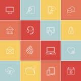 Eenvoudig sociaal, media, Webpictogrammen Royalty-vrije Stock Fotografie