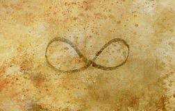 Eenvoudig symbool van eeuwigheid, potlood die op abstracte achtergrond trekken royalty-vrije illustratie
