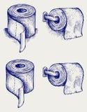 Eenvoudig toiletpapier Stock Foto's