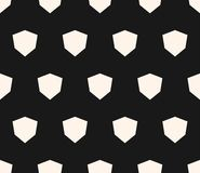 Eenvoudig vector geometrisch naadloos patroon met diamantvormen Stock Foto's