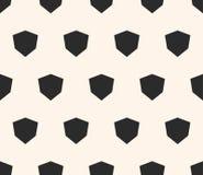 Eenvoudig vector geometrisch naadloos patroon met diamantvormen, hoekige zeshoeken Royalty-vrije Stock Fotografie