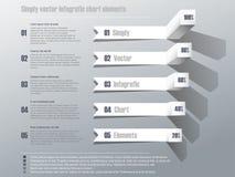 Eenvoudig vector infografic grafiek Stock Afbeeldingen