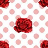 Eenvoudig vector naadloos patroon van lichtrose roze cirkels op een witte achtergrond vector illustratie