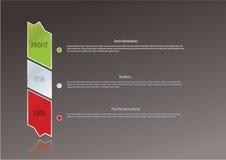 Eenvoudig vectoretiket. Winst, risico, loos. Het collectieve embleem van Bussinec Stock Afbeeldingen