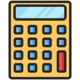 Eenvoudig Vectorpictogram van een klassieke calculator in vlakke stijl Perfect pixel Basisonderwijselement Royalty-vrije Stock Fotografie