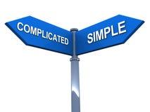 Eenvoudig versus ingewikkeld vector illustratie