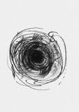 Eenvoudig verticaal die malplaatje met handdrawn inktcirkels, hand - in stijl uit de vrije hand, laconiek, onvolmaakt, op geweven Royalty-vrije Stock Afbeeldingen