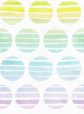 Eenvoudig verticaal naadloos malplaatje met handdrawn inktcirkels in stijl uit de vrije hand, met de korrelige textuur van de str Royalty-vrije Stock Afbeelding