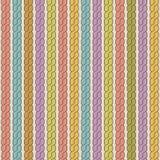 Eenvoudig vlecht naadloos patroon Retro kleurenachtergrond Royalty-vrije Stock Fotografie