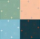 Eenvoudig Vliegtuigenpatroon Stock Foto's
