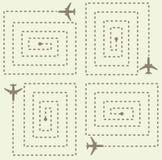 Eenvoudig Vliegtuigenpatroon Royalty-vrije Stock Afbeelding