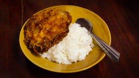 Eenvoudig voedsel in Thailand Royalty-vrije Stock Afbeelding