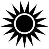 Eenvoudig zon vectorpictogram op witte achtergrond vector illustratie