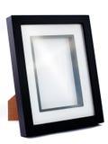 Eenvoudig zwart fotoframe Royalty-vrije Stock Foto