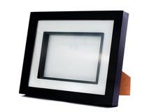 Eenvoudig zwart fotoframe Stock Foto's