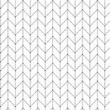 Eenvoudig zwart naadloos geometrisch patroon Royalty-vrije Stock Foto