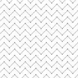 Eenvoudig zwart naadloos geometrisch patroon Stock Afbeeldingen