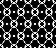 Eenvoudig zwart & wit hexagonaal patroon Stock Fotografie