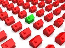 Eenvoudige 3d huizen Royalty-vrije Stock Foto's
