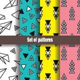 Eenvoudige abstracte patrooninzameling Royalty-vrije Stock Fotografie
