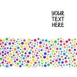 Eenvoudige Achtergrond van Lijn van Gradiënt Kleurrijke Cirkels op Wit Stock Foto